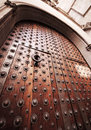Ancient gothic door Stock Images