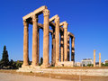 Ancient greece ruins of the temple of olympian zeus athens Royalty Free Stock Photography
