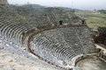 Ancient greek amphitheater in turkey abstract architecture Royalty Free Stock Photography
