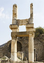 Ancient greek city ephesus ruins of the Royalty Free Stock Images