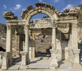 Ancient greek city ephesus ruins of the Royalty Free Stock Photography