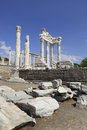 Ancient Greek City of Pergamon in Bergama, Turkey Stock Photo