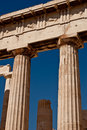 Ancient greek columns from the Parthenon Royalty Free Stock Photos