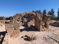 Ancient greek ruins at an archaeological site cyprus Royalty Free Stock Photo