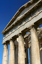 Ancient greek temple columns of an in summer day Royalty Free Stock Photography