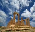 Ancient greek temple of juno valley of the temples agrigento sicily v vi century bc area was included in unesco heritage Stock Image