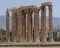 Ancient greek temple of olympian zeus athens Royalty Free Stock Image