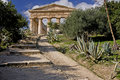 Ancient Greek Temple Ruins of Segesta Royalty Free Stock Photo