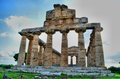 Ancient greek temples and ruins in southern italy Stock Photos