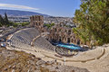 Ancient greek theatre under acropolis of athens theater greece Royalty Free Stock Images