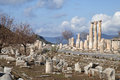 Ancient greek town of ephesus in turkey ruins Royalty Free Stock Photos