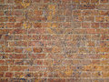 Ancient Gritty Textured Brick Wall Royalty Free Stock Photo
