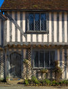 Ancient half-timbered cottage Stock Photography