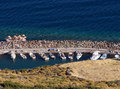 Ancient harbour in Assos (Behramkale) Royalty Free Stock Photos