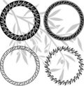 Ancient hellenic patterns in rings Stock Photography
