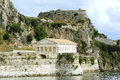 Ancient Hellenic temple, Corfu Stock Image
