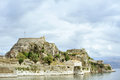 Ancient Hellenic temple and fortress, Corfu Stock Photos