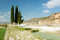 Ancient Hierapolis-Pamukkale, Turkey. Royalty Free Stock Photo