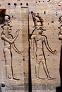 Ancient hieroglyphics at ptolemy temple on the island of philae Stock Photos