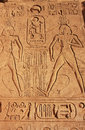 Ancient hieroglyphics on the wall of great temple of abu simbel nubia egypt Stock Photos