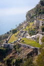Ancient hillside garden of eze village Stock Photography
