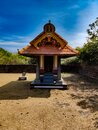 Ancient Hindu temple architecture view with landscape Royalty Free Stock Photo