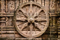Ancient hindu temple at konark india intricate carvings on a stone wheel in the surya orissa th century ad Royalty Free Stock Photography