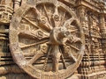 Ancient Hindu temple Konark wheel architecture Royalty Free Stock Photography
