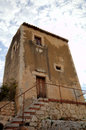 Ancient house near greek theater in siracusa sicily italy Royalty Free Stock Photography