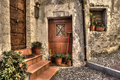Ancient house. Ventimiglia, Italy. Royalty Free Stock Photos