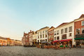 Ancient houses in the historic Dutch city of Zutphen Royalty Free Stock Photo