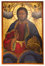 Ancient icon from monastery of the Panayia Kera.Island of Crete Royalty Free Stock Photo