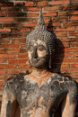 Ancient image Buddha statue in Sukhothai city. Royalty Free Stock Images
