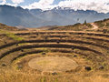 Ancient Inca circular terraces Stock Image
