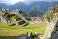 Ancient Inca ruins of Machupicchu Royalty Free Stock Photography
