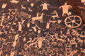 Ancient Indian Petroglyph in Moab, Utah Royalty Free Stock Photo
