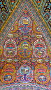 Ancient iranian style tile paintings in old houses Royalty Free Stock Image
