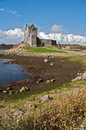 Ancient irish castle in the west of ireland Royalty Free Stock Photo