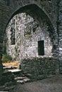 pointed arch,ancient Irish Monastery Royalty Free Stock Photo
