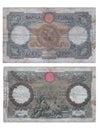 Ancient Italian Banknote Royalty Free Stock Photo