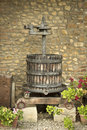 Ancient italian olive press used to make oil Royalty Free Stock Image