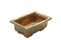 Ancient japanese bonsai pot Royalty Free Stock Photo