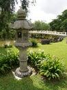 Ancient japanese stone lantern Stock Images