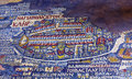 Ancient Jerusalem Map Mosaic Saint George Church Madaba Jordan Royalty Free Stock Photo