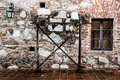 Ancient jesuit construction stone wall Stock Photos