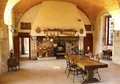 The ancient kitchen at chateau de pommard winery is a th century castle famous for with hectares Royalty Free Stock Images