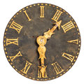 Ancient large church clock face Stock Photo