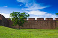 Ancient laterite wall Royalty Free Stock Image