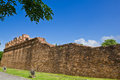 Ancient laterite wall Royalty Free Stock Photo