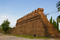 Ancient laterite wall Stock Photos
